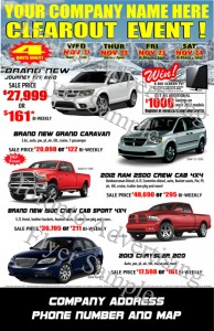 Car Auto Flyers from Toronto Advertising