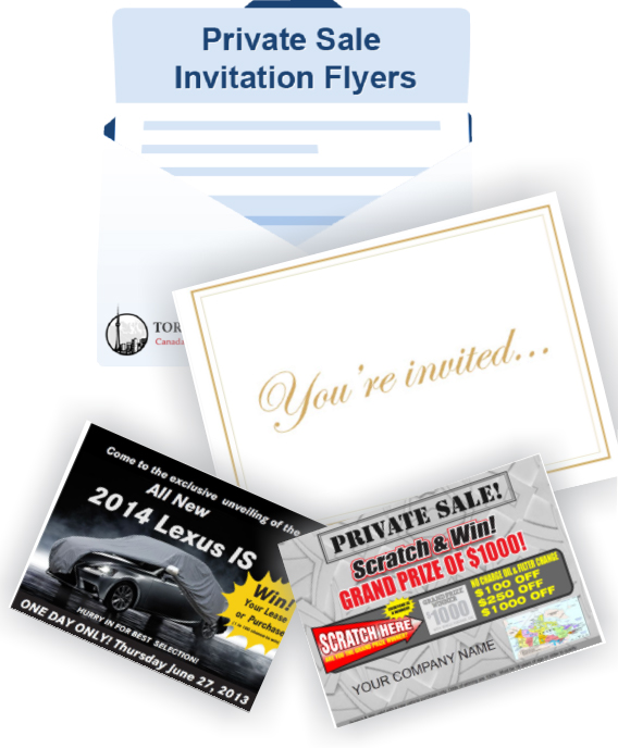 Private Sale Invitations